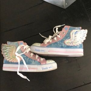 Sketchers US13 light up twinkle toes wing high top